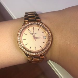 FOSSIL authentic rose gold watch